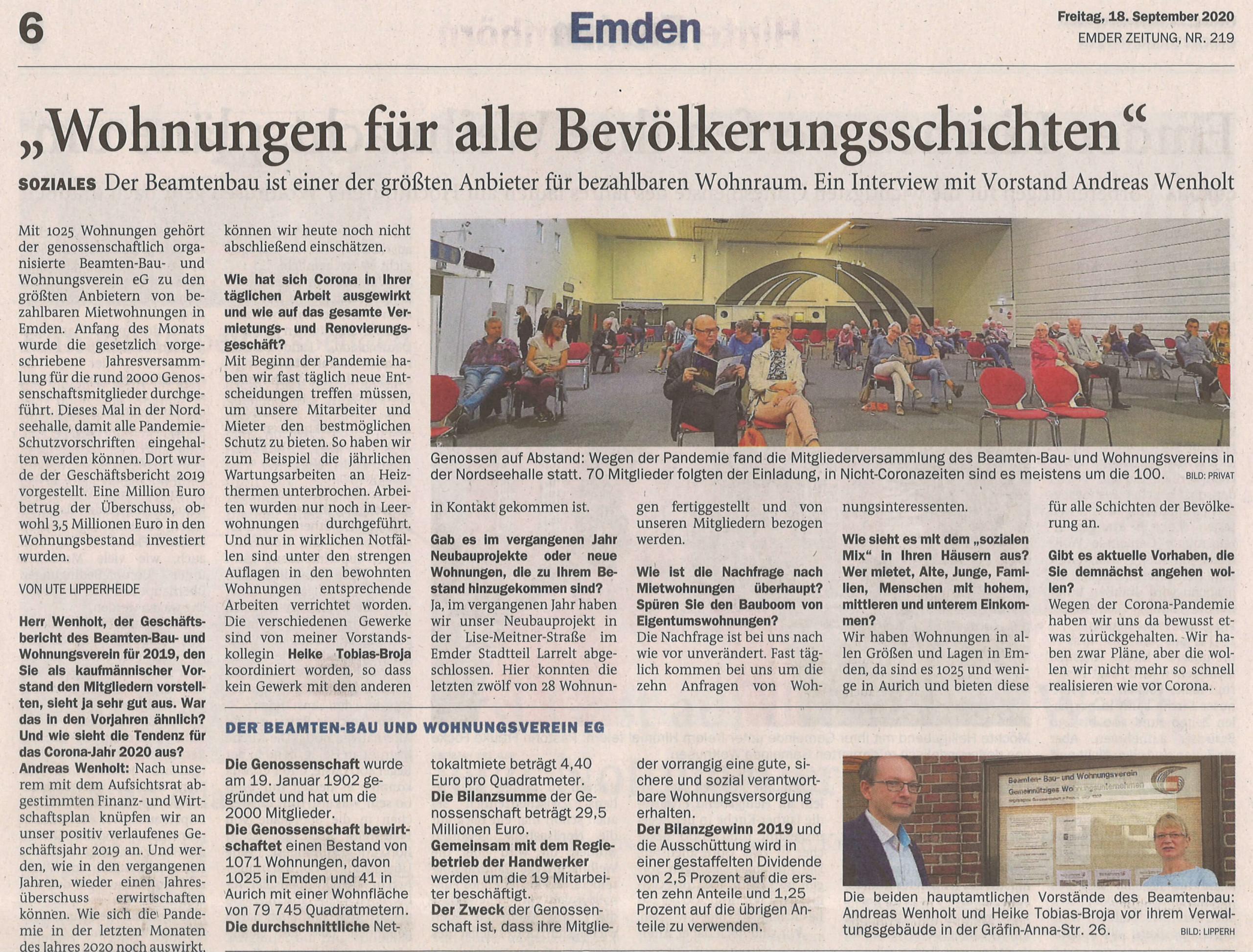 Artikel der Emder Zeitung
